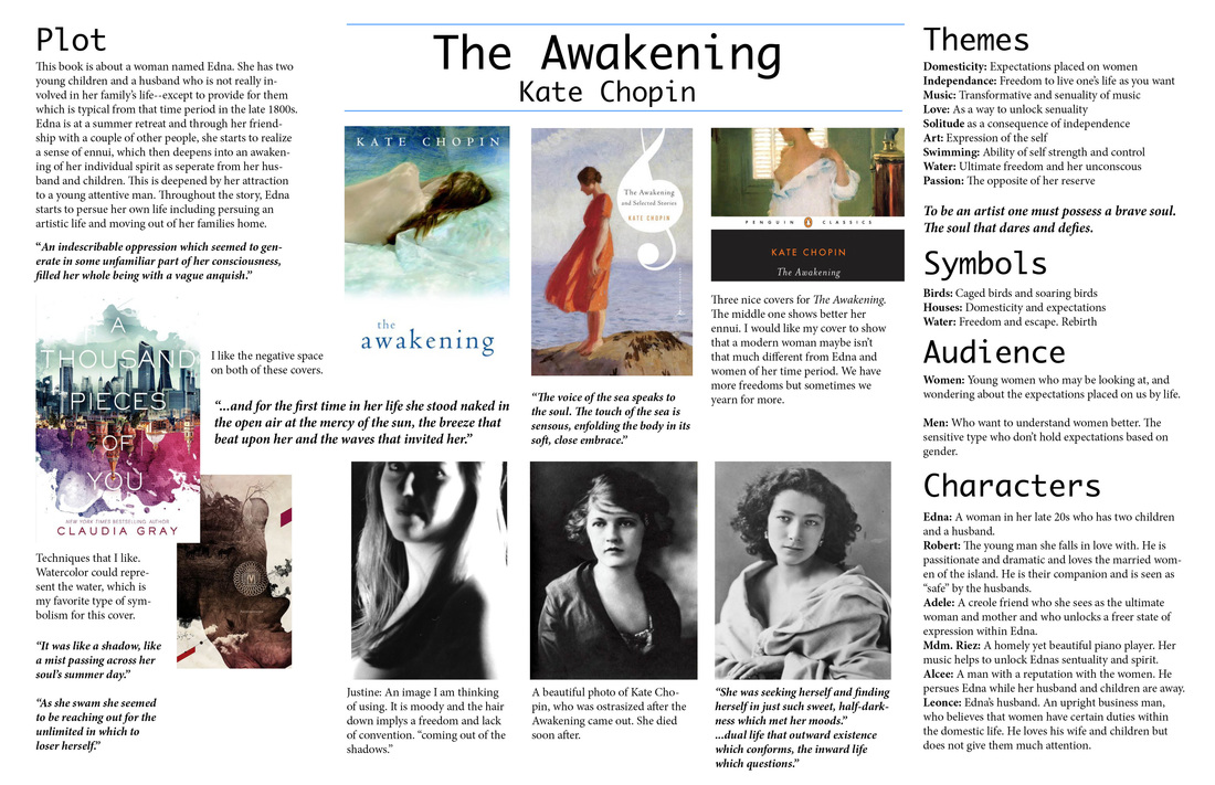 an analysis of edna awakening in kate chopins the awakening Birds as a symbol in different settings the awakening, written by kate chopin, focuses around edna's ambition to seek individuality taking place in 1890s, edna tries to detach herself from the oppressive social norms and seek self-discovery.